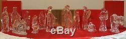 Gorham Nativité Boxed Set Cristal Emballage Mint, Pièces Rares