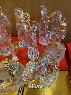 Gorham Nativité Crystal Set 16 Pièces Rares Aubergiste, Batteur, Millennium Ange