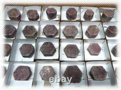 Grand 24 Piece Lot Red Ruby Crystal / Some With Record Keepers