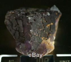 Grand Écran Naturel Fluorite Crystal Pièce En Escalier 309g
