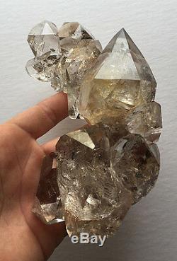 Grand Groupe De Demi-lune De Diamant De Haute Qualité Ny Herkimer, Pièce De Collection-rf