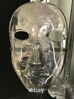 Grand Masque En Cristal Sculpté 9 Pièce D'affichage Quartz Un Seul Sur Ebay Doit Voir