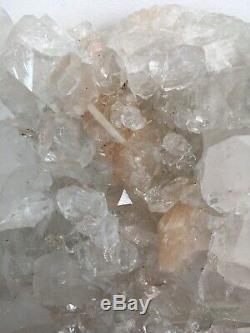 Grand Morceau D'étalage Scintillant D'agglomérats De Cristaux D'apophylite Et De Calcite, 2 KG
