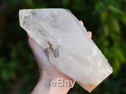 Grand Quartz Clair Point, Naturel Brut Cristal Cluster, Affichage Piece 1,6 KG