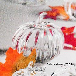 Grand Rare Steuben Verre Great Pumpkin Ornemental Crystal Gourd Art Heart Patch