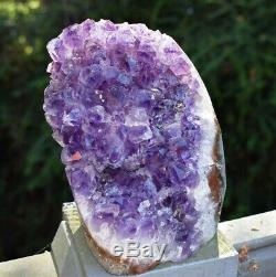 Grand Reiki Énergie Naturelle Amethyst Raw Piece Calming Crystal Pierre 1687g Cadeau