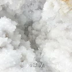 Grappe De Géode En Cristal De Quartz Blanc, Spécimen De 2 Pièces, Grand, 14,5 Lb Du Maroc
