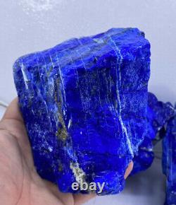 Gros Morceaux Grade Aaa Rough Premium Lapis Lazuli Cristaux 5kg Lot De Gros 4pc