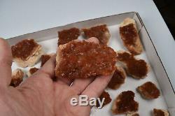 Gros Quartz Rouge Avec Hématite Du Maroc 29 Pièces 1650 Grammes # 6160