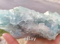 Grosse Fluorite Et 2,1kg Pièce Quartz, La Mine Du Burc, Tarn, France