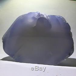 Haut! Chalcedony Bleu Naturel Cristal Brut Poli Poste De Station Dinde 619gs230