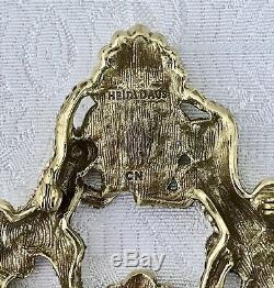 Heidi Daus Absolue Ange Avec Lion Cristal Pin Collection Piece Nib