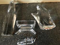 Holy Family-4 Piece Set Dansk Crystal Nativity Par Dansk Style 04896 Rare Htf