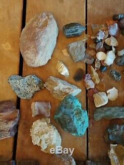 Incroyable Collection 1950 Années 80 Vintage Rock Mineral Quartz Pierre. Pièces Rares