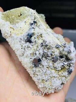 Incroyable Qualité Supérieure Some Blue Crystal Anatase Lot @pak Baloutchistan Kharan 60piec