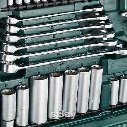 Jeu De Douilles Mannesmann M98430, 215 Pièces Outils Acier Au Vanadium, Chrome, Finition Mate