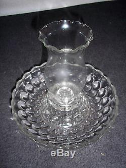 Lampe De Support De Bougie En Verre Antique Hurricane En Cristal Antique