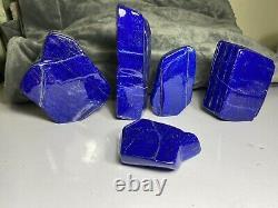 Lapis Lazuli Grade Aaa Formulaires Gratuits De Qualité Bourdonné Vente En Gros 4.6kg 05 Pieces Lot