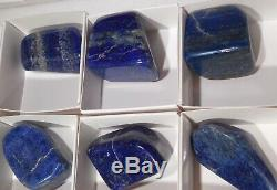 Lapis Lazuli Violet Fluorite En Gros Plat 27 Pièces Chine Afghanistan 4 Lbs