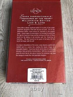 Lenox Millennium Edition 2000 Lion & Lamb Cristal Ornement Set 16 Piece