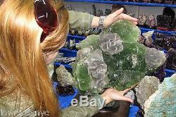 Les Plus Grands Cubes Fluorite Tree Minérales 41 Kgs = 90lbs Collector Piece