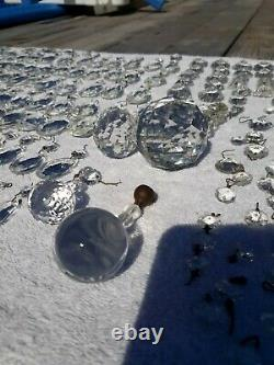 Lot 610 Vintage Chandelier Crystals Pieces Teardrops, Rectangles, Chaînes, Boules