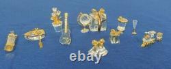 Lot De 10 Mémoires De Swarovski Crystal Chigurines Lot De 10 Pièces