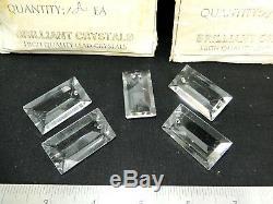 Lot De 173 Pièces New-old Stock Prismes Rectangulaires En Cristal Tchèque. 40mm X 22mm