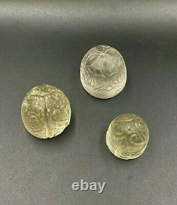 Lot Of 3 Old Ancient Antique Chess Shatranj Crystals Pieces Sasanian Dynasty