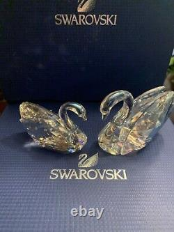 Love Swans 2 Piece Swan Set 2013 Swarovski #1143414 Bnib À La Retraite