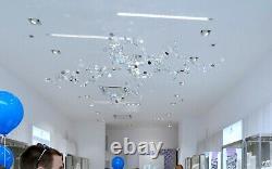 Lustre En Cristal Swarovski Grand Plafond Hanging Fixture Décor Unique Pièce