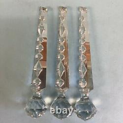Lustre Ou Lustre Prismes Cristal 3 Pièces Bout De Boule 10 Long