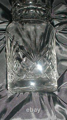 Mercedes Benz Vint. Carafe En Cristal Coupée Gravée 6 Pièces Réglée MID Cent. Nib