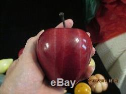 Millésime 21 Pièces En Pierre De Quartz En Marbre Albâtre Fruit 3 Œufs Exceptionnels