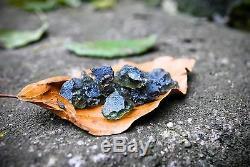 Moldavite 19 Pièces De 0,5 À 1,0 Gramme Chacune (poids Total De 13,3 Grammes)