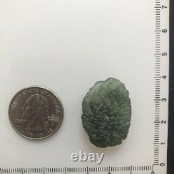 Moldavite Brut Cristal Grade Régulier 5.57gr/27.85ct Joli Morceau Texturé