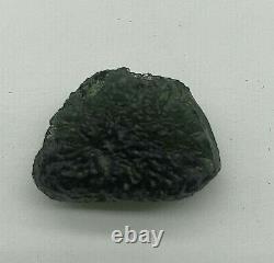 Moldavite Brut Cristal Grade Régulier 6.93gr/34.65ct Joli Morceau De Texture
