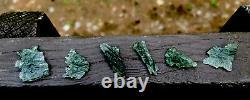 Moldavite Naturel De Besednice 5.88g/29.45ct 6 Pièces Lot De Petits Cristaux Tchèque