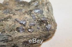 Molybdenite Sur Une Piece D'affichage De Matrice Speciman Grande Piece De 7 Lb Vieux Stock