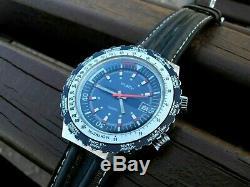 Montre-bracelet À Quartz Pour Homme Rare Dans Le Monde Maty World Time, Pièce De Collection France