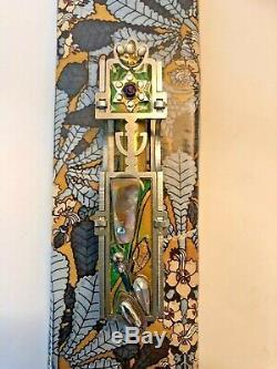 Museum Piece Mezuzah Shell En Cristal Perlé Complexe Magnifiquement Détaillée- Nouveau