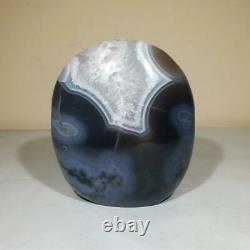 Natural Blue/grey Agate Crystal Poli Freeform Display Piece India 1.03kg