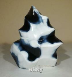 Naturel Orca Agate Bleu Agate Flamme Poli Pièce D'affichage En Forme Libre 1kg