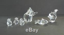 Nice Assortiment De 6 Pièces De Figurines Retraité De Cristal Swarovski