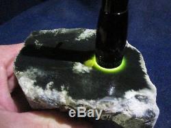 Olivier Néphrite / Jade Aux Cristaux De Quartz 2,3 Lbs Wyoming Rugue Cut Pieces