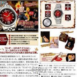 One Piece Ace Feu Limitée Officiel Memorial Montre À Quartz Haut De Gamme Collection Mt