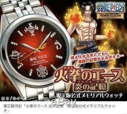 One Piece Ace Memorial Officiel Tir Limitée Montre À Quartz Haut De Gamme Ex Anime Japon