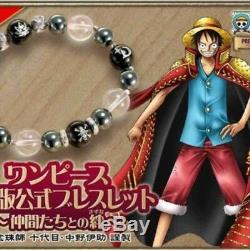 One Piece Bracelet Officiel Onyx Cristal Hématite Argent Made In Japan 1000 Seulement