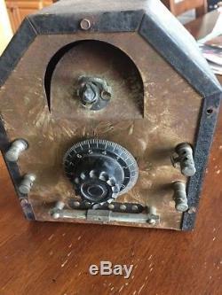 Philmore Crystal Radio Set Vintage Estate Trouvez Une Belle Pièce D'histoire