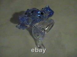 Pièce De L'événement Swarovski Blue Dart Frog Signée, Menthe